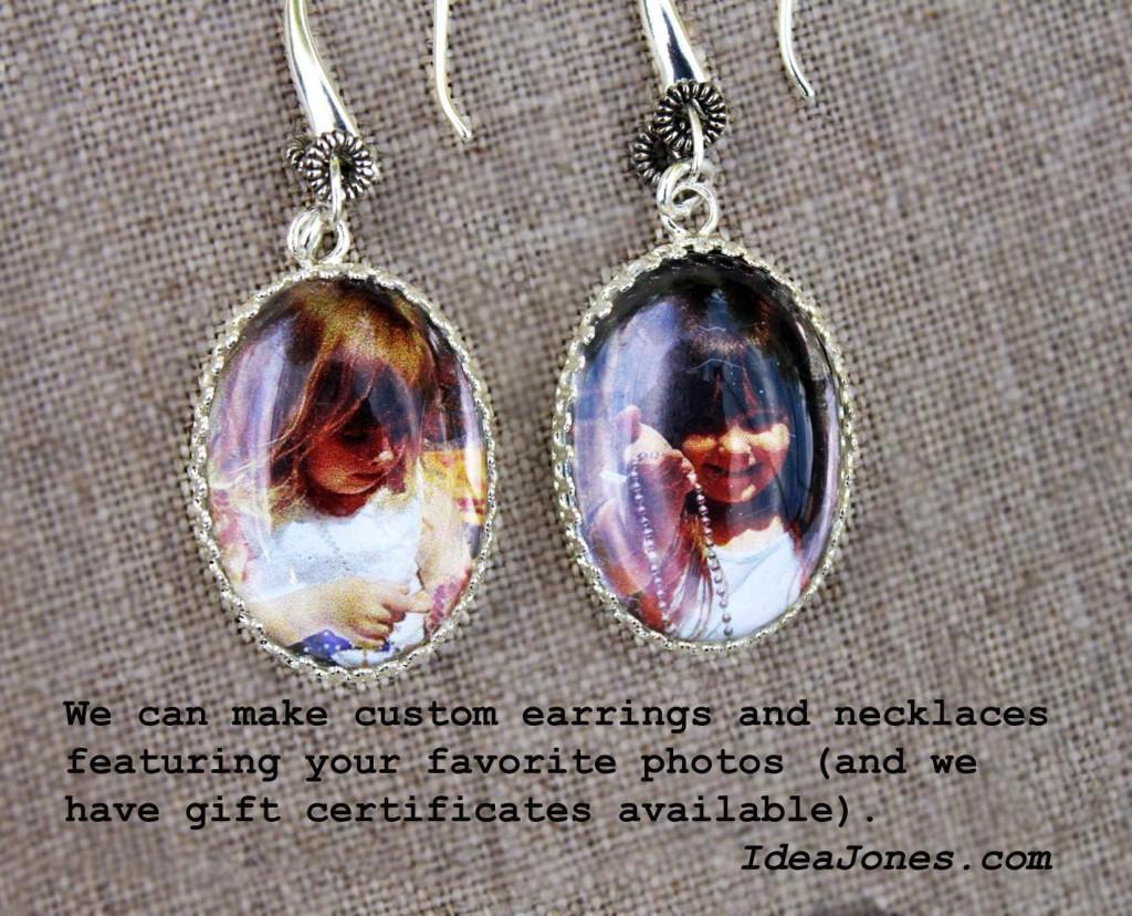 00 Custom Photo Earrings IdeaJones