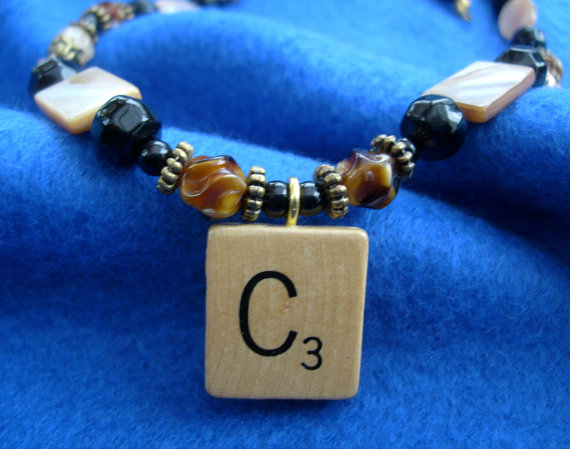 Scrabble C necklace